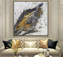 White Black Gold Original Painting, Gold and Silver Leaf, Luxury Interior Art ''Believe In Yourself'', Huge Painting, black, gold leaf art, Abstract Silver Leaf, original art, uxury, Julia Apostolova, White and Gold, Original painting, Luxury decor, Wall art, original painting, glam, modern decoration, interiors, Minimalart, Pinterest Contemporary art, abstract art, luxury homes, modern, trendy, artwork, Livingroom decor Llarge wall art, mixed media art, canvas, acrylic, julia apostolova art, huge art