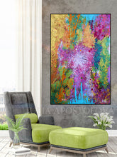 Abstract Art, Splash Art, Large Wall Art, Abstract Painting, Print, Canvas Print, Ready to Hang, decor, interior, home decor
