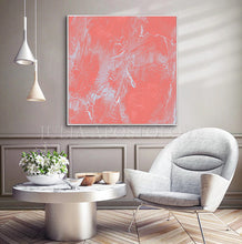 Coral Abstract Art, Coral Painting, Coral Wall Art, Minimalist Art, Julia Apostolova, Light Salmon Pink Wall Art Decor, Pastel Colors Canvas, Living Room, Bedroom, Offfice, Interior, Dercor, Girls Room Decor, Nursery, Design, Minimalist Art, Interior Designer