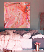 Coral Wall Art, Abstract Painting, Pink Peach, Pastel Colors, Nursery Girl Room Decor, Coral Painting, Peach Painting, Decor, Interior, Bedroom Art Decor, Living Room, Ready To Hang
