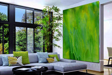 Green Abstract Painting, Large Wall Art, Julia Apostolova, Canvas Print, Green Wall Decor, Minimalist Painting, Minimal Art, Green Abstract Art, Interior Decor, Zen, Design, Living Room, Office, Hotel Lobby