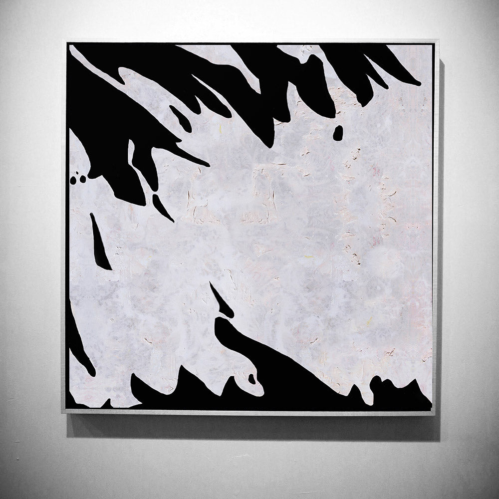 White and black wall abstract art minimalist painting modern home decor abstract art