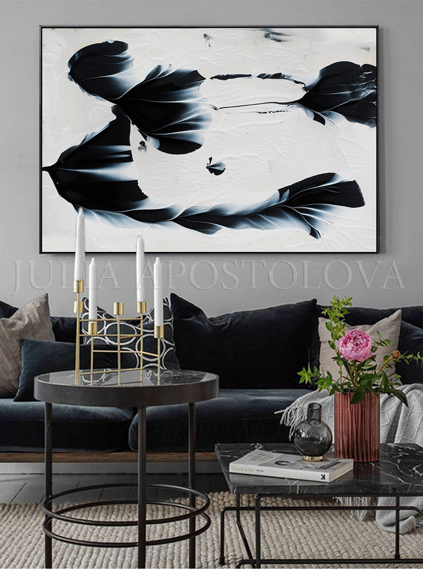 Minimalist Painting Black White Wall Art Marble Canvas Print, Nordic Decor Art by Julia Apostolova, marble canvas	, alcohol ink art, Large Marble Art, Interior Designer, Contemporary Art, Design	, Large Marble Art, Marble Canvas Print, Beautiful Abstract Art, Modern Wall Decor, Large Canvas Art, Ink Painting Print, Livingroom, Dinning Room, Bedroom Decor