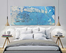 Blue and White, Ocean Abstract Painting, Minimalist Art, Blue Wall Art, Canvas Print, Julia Apostolova, Reviews, Happy Clients, Interior, Design