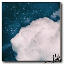 Blue White Cloud Wall Art, Large Canvas Cloud Art Print, Minimalist Art, Cloud Art, Celestial Abstract Art, Trend Decor, Blue Sky. Julia Apostolova, Bedroom Decor, Gift for Him, Modern Art, Art Gift, Livingroom, Boys Room Decor, Trendy Art, Christmas Gift