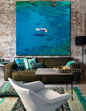 Coastal Canvas Art, Blue Lagoon, Boat, Greek Islands, Beach, Crystal Waters, Relaxing Summer Decor, Blue Abstract Art, Blue Marble Painting, Navy Blue Ocean Wall Art Canvas, Modern Print Blue Wall Decor, Julia Apostolova, Blue Painting, Coastal Art, Cozy, Interior, Home Decor, Bedroom Wall Art, Ocean Painting, Minimalist Blue Art, Ocean Abstract, Abstract Seascape, Bathroom Wall Art, Hotel Lobby Art Decor, Airbnb wall art decor, Coastal Decor, Elegant Art