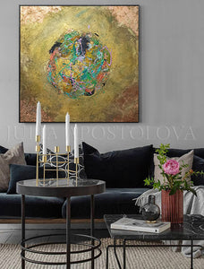 Metallic Gold Original Painting, Copper Leaf Wall Art, Julia Apostolova, Glam Painting, Framed Abstract, Autumn Feelings, Glam Decor, Autumn Painting, Luxury Decor, Copper Leaf Abstract, Gold Leaf Avstract, Luxury Wall Art Decor, Interior, Gift for Her, Art Gift, Interior Designer, Hotel Lobby Decor, Art over sofa, Modern Art, Gold Floating Frame, Floater Frames, Black Frame, Splash of Colours, Splash Art, Framed Wall Art, Original Art, Livingroom Decor, Contemporary Art