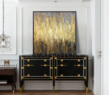 Gold Black Abstract Original Painting Gold Leaf Wall Art Luxury Decor, Golden Years, Julia Apostolova, Luxury Interiors, Minimalist Gold , Luxury homes, Glam Decor, Modern, Trendy Canvas Wall decor ,modern art, modern abstract modern artists, interior design, Office Decor, Office Design, Art Gallery, Hotel Lobby Decor, Christmas Gift, Art Gift, Living Room Decor