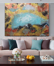 Autumn Wall Art, Abstract Gold Leaf Original Painting, Gold Copper Leaf, Modern Interior Wall Decor, Julia Apostolova, Copper Leaf, Turquoise Gold, Autumn Painting, Original Wall Art, Interior Decor, Designer, Luxury Wall Art, Elegant Interior Decor, Gold Leaf Wall Art, Teal Gold Art, Luxury Wall Art Decor, Original Art, Gold Abstract Art, Glam Art, livingroom, sophisticated art, glamorous art, Earth tones, Earth colors, Contemporary art, home, office, hotel, Ready to Hang, shining accents, designer