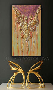 Gold Sculpture Painting, Luxury Decor, Gold Wall Art Abstract Original Modern Art, Julia Apostolova, original painting, luxury minimalist original art, luxury glam decor, interiors, 3d wall art, gold elegant art, sculpture minimal art, interior home design, interior design, contemporary art, abstract art, luxury homes, trendy, gold abstract painting, copper, interior designers, livingroom decor, ready to hang, heavy textures, abstract art, original paintings, artwork, minimalist painting, large wall decor