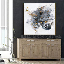 Modern Watercolor Painting, Gray Black White Gold Abstract Wall Art Canvas Print, Office Decor, Home Decor, Embellished Canvas, Interior, Julia Apostolova, Gold Leaf Abstract, Original Painting, Watercolor Painting, Minimalsit, Minimal Art, Large WallArt, Black and White, Abstract Watercolor, Livingroom Decor, Bedroom Art, Trendy Wall Art, Art Gifts, Shining Accents, Textures, Textured Canvas, embellished art, Gray Abstract, Hotel Decor, Minimal Artwork