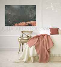 cloud painting, cloudscape, scandinavian design, nordic style, cloud print, cloudscape wall art, dreamy art, scandinavian art, nordic design, scandinavian design style, julia apostolova, teal, turquoise, watercolour, watercolor print, modern wall decor, wall art decor, wall art, contemporary two abstract prints, abstract painting, modern decor, canvas prints, zen, bedroom painting, bedroom art, livingroom, bathroom