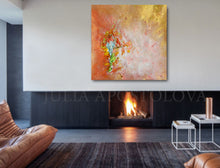 Large Wall Art Abstract, Gold Copper, Minimal Canvas Print, Minimalist Painting, Abstract Print, Modern Home Decor, Interior, InteriorDesigner, Decor, Fireplace, Zen Art by Julia Apostolova