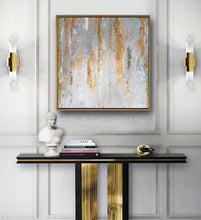 Gray Gold Abstract Gold Leaf Art Original Painting, Minimalist Painting Elegant Luxury Decor, Julia Apostolova, white and grey, original art, gray painting, silver painting, silver and gold, white and grey wall decor, gray wall art, modern decor, contemporay, vintage decor, trending decor  trending art, Transitional Elegance, textures, luxury artwork, luxury art, luxury abstract art, luxury livingroom, large wall art, large painting on canvas, large oil painting, gold leaf abstract canvas