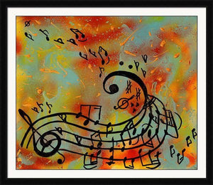 Musical Notes Abstract Art Canvas Print, Music Painting Perfect Gift for Musicians and Music Lovers