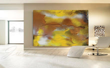 Yellow Copper Print, Canvas Art, Abstract, Large Wall Art, Canvas Print, Summer Modern Yellow Painting Julia Apostolova interior decor modern art