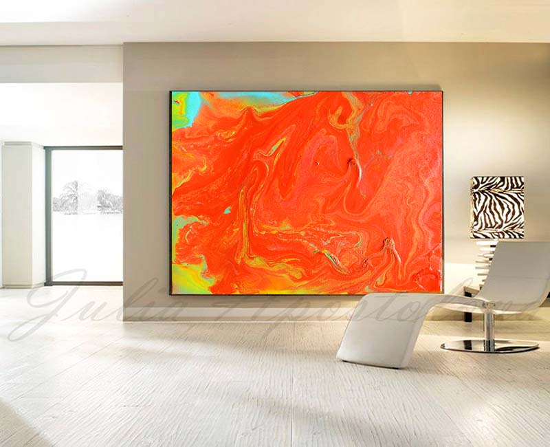 Orange Wall Art, Minimalist Painting, Abstract Canvas Print, Orange Wall Decor, Julia Apostolova, Orange Painting, Orange Abstract, Minimal Wall Art, Interior Designer, Decor, Home Decor, Design, Kids Room Decor, Orange Interior