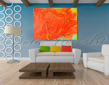 Orange Wall Art, Minimalist Painting, Abstract Canvas Print, Orange Wall Decor, Julia Apostolova, Orange Painting, Orange Abstract, Minimal Wall Art, Interior Designer, Decor, Home Decor, Design