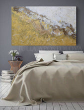 Gold White Wall Art, Original Abstract Painting, Gold Leaf Art, Minimal Art, Minimalist Art, Gold Leaf Textured Art, Modern Design, Julia Apostolova, Interior, Decor, Interior Desigber, Wall Art, Home Decor, Contemporary Art, Gold Painting, Luxury Art, Glam Art, Bedroom Decor, Art over bed, Office Art