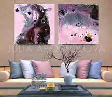 Pink, Black and Gray, Watercolor Painting, Abstract Canvas Print, Modern Home Office Decor, Wall Art, Interior Design, Decor, Interior Designer, Canvas Art
