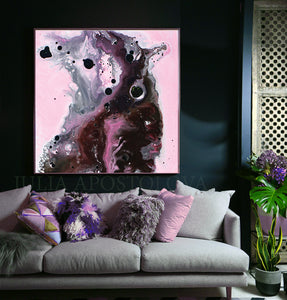 Pink, Black and Gray, Watercolor Painting, Abstract Canvas Print, Modern Home Office Decor, Wall Art, Interior Design, Julia Apostolova, Decor, Interior Designer, Canvas Art, Elegant Abstract, Pink and Gray Wall Art Watercolor Painting, Large Canvas Print, Modern Home Decor, pink black art, pink artwork, pink and silver art, Living room decor, large wall art, large painting on canvas, large abstract painting, kids room wall art, pink abstract art, minimalist wall art, minimalist abstract, watercolor print