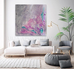 Gray Purple Wall Art Abstract Painting, Romantic Wall Art Canvas, Scent of Provence, Gray Painting, Pink, Purple Art, Wall Art, Abstract Painting, Modern Wall Decor, Romance, Decor, Interior, Office, Bedroom Art, Living Room, Grey, Large Wall Art, Minimimalist Painting, Abstract Painting, Canvas Print, Textured Canvas, Modern Art