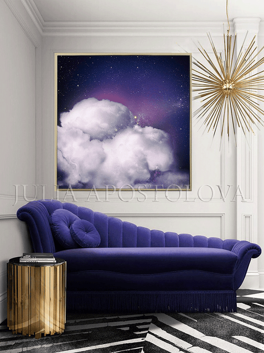 Purple Painting, Cloud Large Canvas, Purple Wall Art Cloud Painting Abstract, Celestial Wall Decor, Julia Apostolova, Purple Sky, watercolor painting, trendy wall art, celestial painting, celestial abstract wall art, bedroom wall art, office decor, celestial decor, abstract landscape, interior designer, interiors, celestial cloud art, abstract cloudscape, abstract clouds, dreamy trend art, dark sky, dark purple painting, contemporary art, celestial abstract, dark purple wall art, nordic wal art