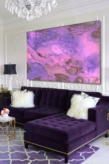 Purple Painting, Purple Wall Art Lilac Pink Abstract Canvas, Romantic Art, lilac and pink, Minimalist Modern Decor, Julia Apostolova, Marble Art, Marble Abstract, Design, romantic abstract, Interior, Art Gift for Her, purple pink abstract, purple pinkwall art, abstract painting painting on canvas, textured wall art, oil painting, abstract art wall art, canvas painting art wall, oversized wall art, oversized painting, large wall art, large painting, lilac artwork, art for lounge room, art above sofa
