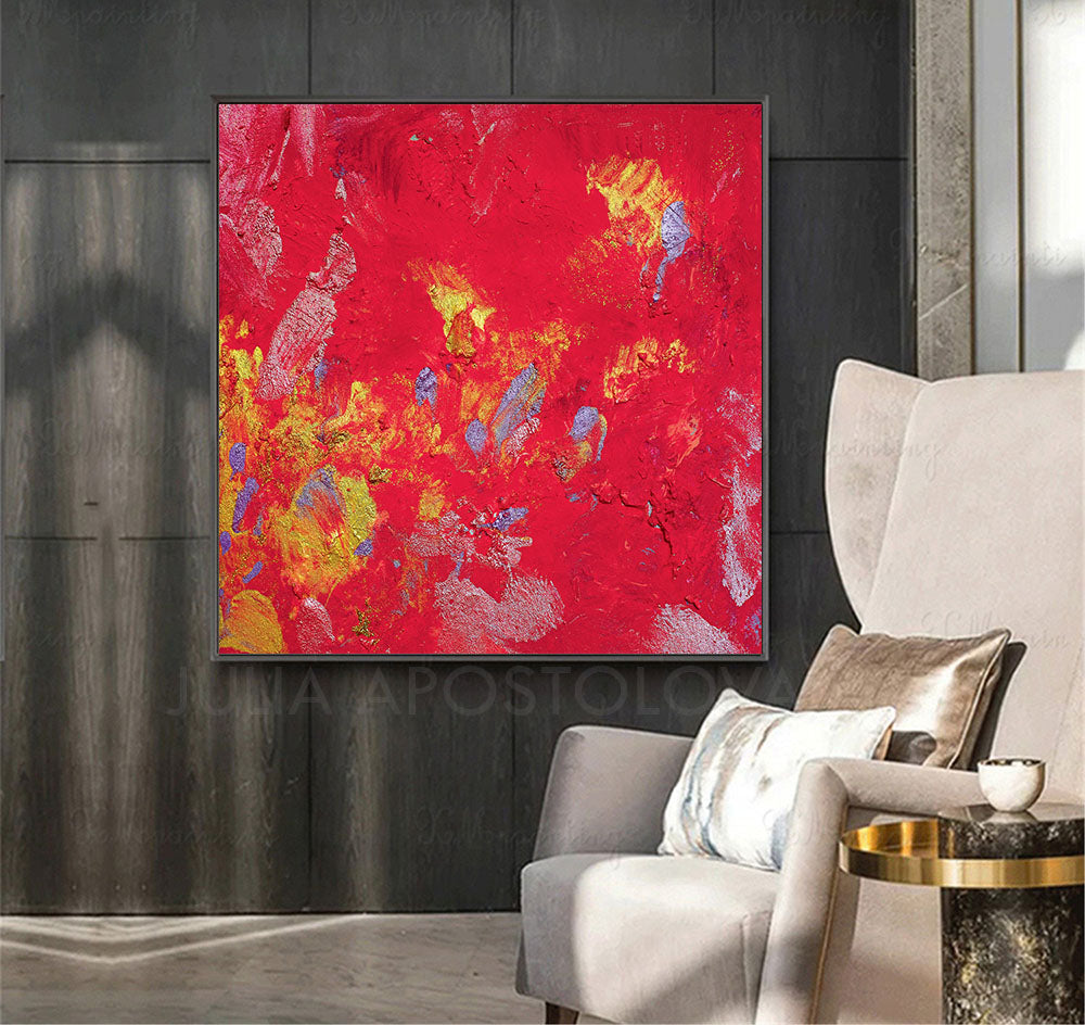 amaranth wall art, amaranth color, Amaranth Abstract, Wall Art, Gallery Wrapped Canvas Print, Contemorary, Home Decor, Feng Shui, Colour Art, Yellow, Abstract Print, Minima Art, Pink, RedInterior, Decor, Livingroom, Interior Designer, Square Painting, Large Wall Art