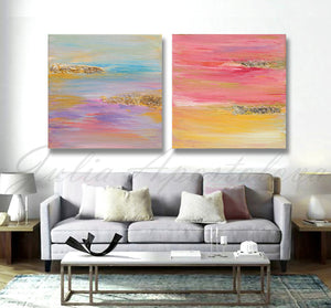 Extra Large Minimalist Triptych Painting with Gold Leaf, Set of 3 Abstract Prints, Wall Art Decor