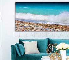 Beach Art, Ocean Waves, Turquoise Waters, Coastal Wall Art Beach Photography, Zen Decor Canvas Print, zen wall art, water photography, zen interior, zen decor, ocean canvas wall art, seaside, seascape abstract, turquoise, seascape, turquoise home decor, turquoise green wall art, turquoise green painting, zen painting, sea waves, sea photography, sea abstract, huge wall art, huge photograph, julia apostolova, huge canvas wall art, greek islands wall art, coastal wall art decor, coastal photography