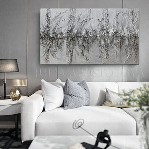 silver, Wall Art, abstract, decor, sculpture, abstract, original painting luxury minimalist original art Julia Apostolova luxury glam decor interiors, minimalist, gray elegant art sculpture minimalart interior homedesign interiordesign contemporaryart abstractart luxury homes modern, trendy, original painting, abstract painting, interior designers ,livingroom decor ready to hang, grey, heavy textured, abstractart, original paintings, artwork, minimalist painting, large ,wall decor , minimal art