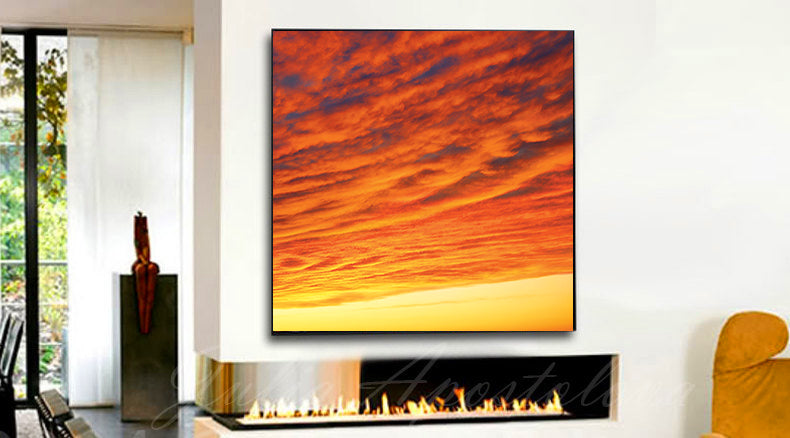 ... Abstract Sunset, Orange Wall Art, Sunrise Abstract, Orange Abstract,  Orange Print, ...