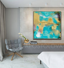 Coastal Decor, Abstract Print, Turquoise Painting, Beach Wall Decor, Abstract Seascape, Summer Art