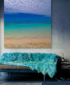 New Caledonian Crystal Clear Turquoise Waters, Ocean Beach Photography, Minimal Art, Coastal Print