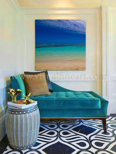 Tropical Water Photography, Beach Photo, Minimal Decor, Coastal Print, Turquoise Zen Minimalist Art