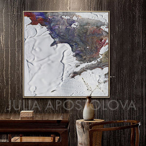 Abstract Seascape, winter colours, winter painting, White and Earth Colours, White, Gray, Grey, Siver, Green, Canvas Art Print, Minimalist Painting, Minimal Art, Modern Decor, Large Wall Art, Part 2 of Diptych Painting, Julia Apostolova, Interior Design, Interior Designer, Home Decor, Modern Decor, Sea Abstract, Diptych, Ideas, Interior Ideas, Decor, Office Decor, Modern Art, Livingroom, Bedroom