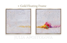 Minimalist Paintings, Gold Frame, White Wall Art Set of Two Abstract Textured Canvas Paintings for Elegant Interior Decor, White Abstract, Interior Design, White and Rainbow, Framed Wall Art, Modern Paintings, Minimalist Decor, Bedroom Art, Office Decor, Home Art, Hotel Lobby Decor, sophisticated art