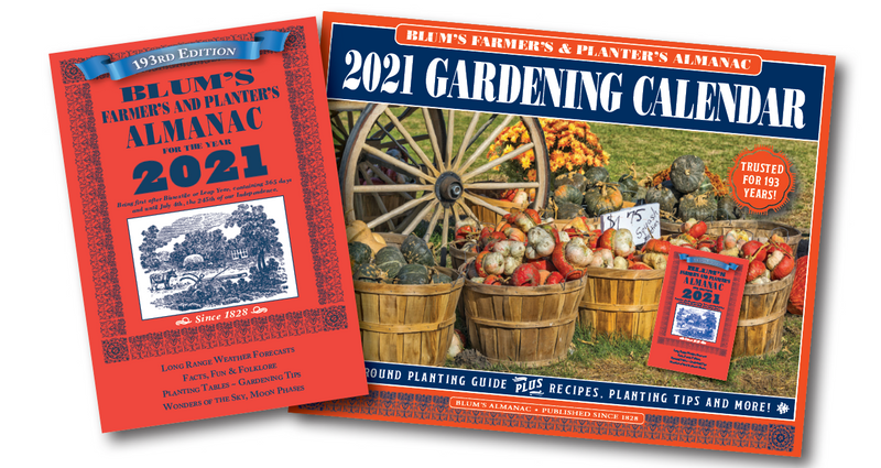 2021 Blum's Almanac Garden Calendar Collection