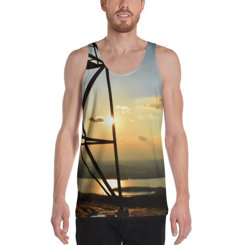 Fire Tower Sunset High Quality Two Sided Unisex Tank Top