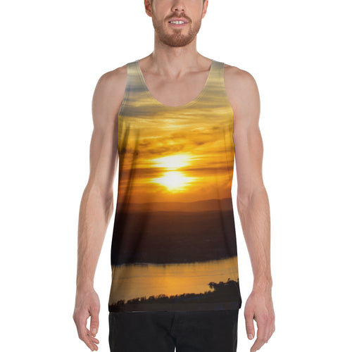 Mt. Beacon Casino Sunset High Qualtiy Two Sided Unisex Tank Top