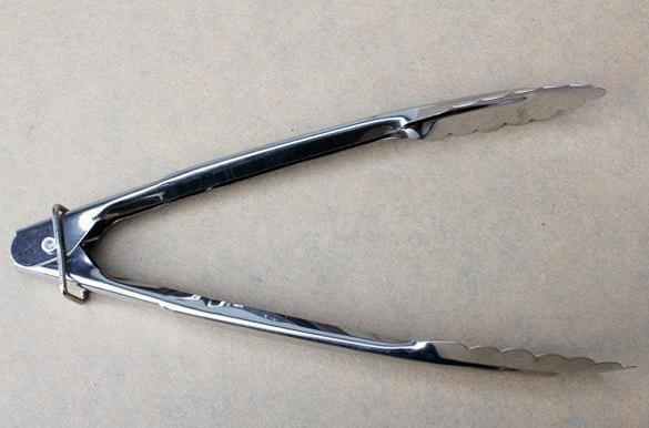 Clip Stainless Steel Food Tongs