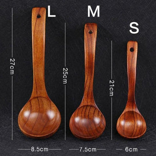 Long Handled Wooden Cooking Spoons
