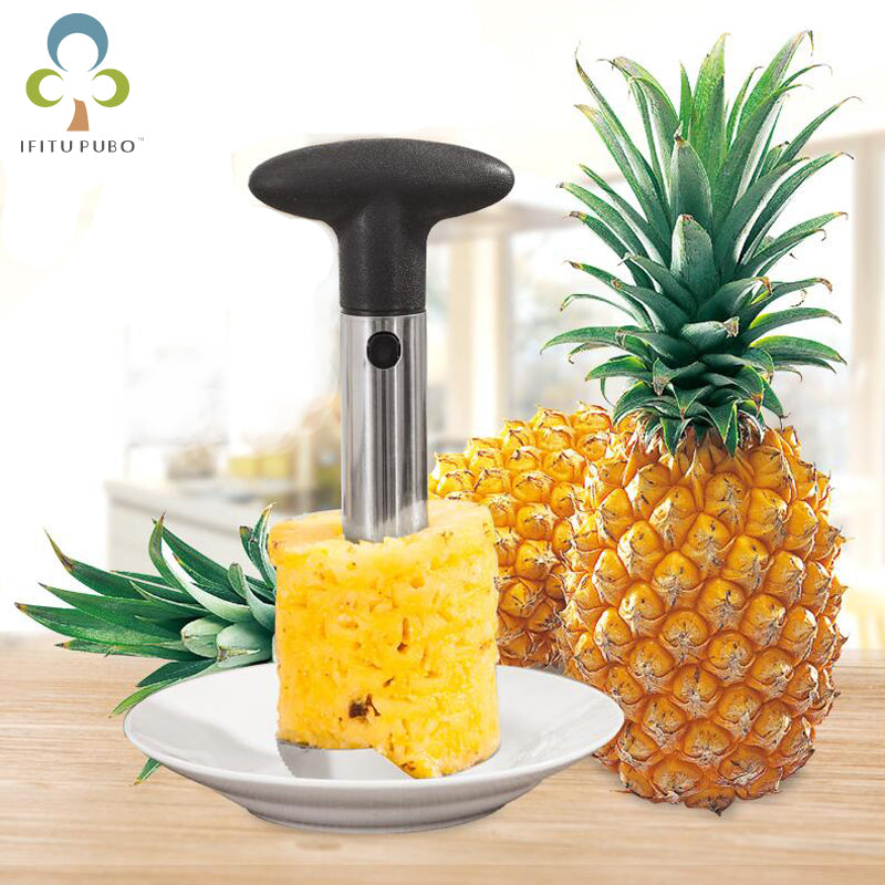 Stainless Fruit Pineapple Corer, Slicer, Peeler, & Cutter