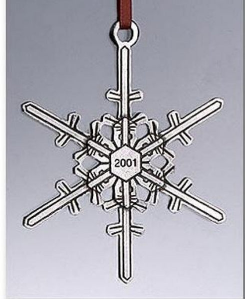 "2001 Snowflake ""Bentley"" Ornament"