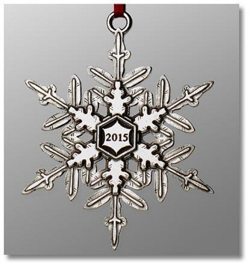 "2015 Snowflake ""Bentley"" Ornament"