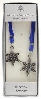 """Snowflake"" Bentley Blue Bookmark"