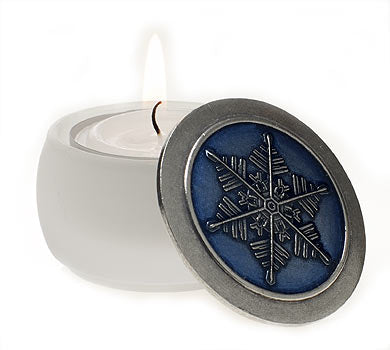 Blue with White Base Tealight/Keepsake Box