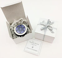 Iris with Cobalt Base Tealight/Keepsake Box