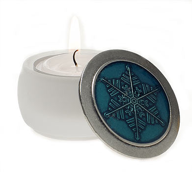 Teal with White Base    Tealight/Keepsake Box